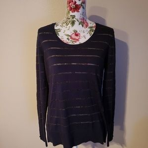 Loft Dark Blue Sweater, Size L